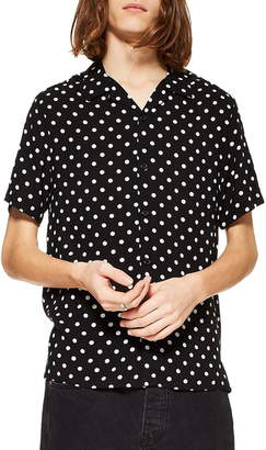 Topman Polka Dot Camp Shirt