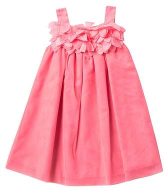 Pippa Pastourelle by and Julie Coral Mesh Dress With Flower Bodice (Toddler & Little Girls)