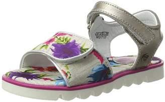 Wrangler Girls' Ollie Velcro Girl Open Toe Sandals White Size: 11.5 Child UK