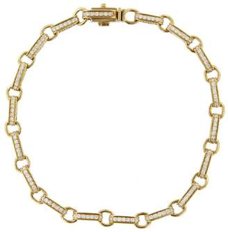 Sydney Evan Round Rectangle Bracelet - Yellow Gold
