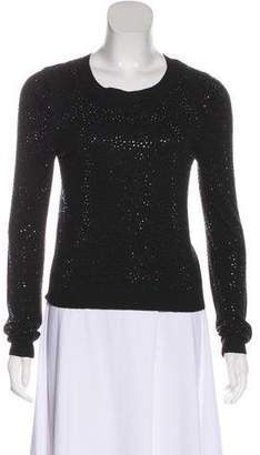 Alice + Olivia Studded Crew Neck Sweater