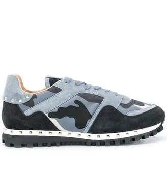 Valentino camouflage print Sole Stud sneakers
