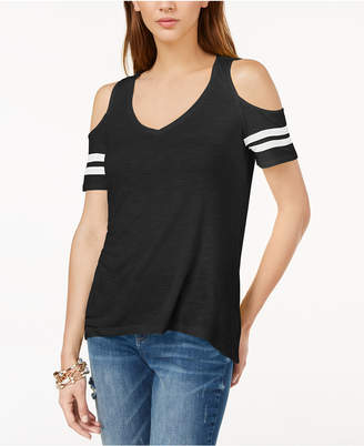 INC International Concepts I.n.c. Cold-Shoulder Varsity Top, Created for Macy's