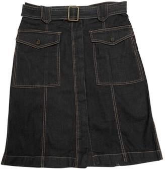 Adolfo Dominguez Navy Cotton Skirt for Women