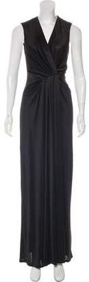 L'Agence Sleeveless Maxi Dress