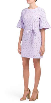 Floral Printed Bell Sleeve Dress
