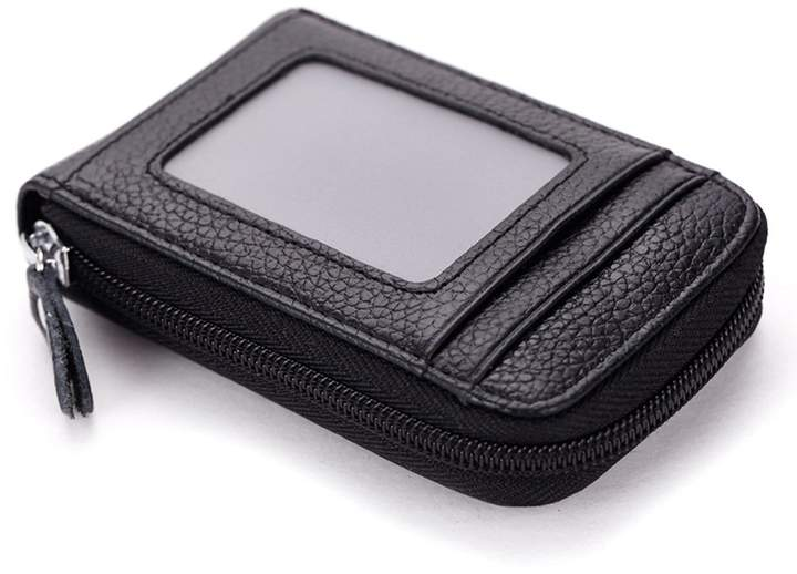 TACOO Premium Leather ID Window Slim Card Holder Wallet