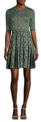 M Missoni Geometric Mesh Fit-And-Flare Dress