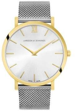 Larsson & Jennings 5th Anniversary Lugano 18K Gold-Plated Stainless Steel Milanese Strap Watch