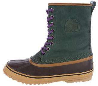 Sorel Lace-Up Canvas Duck Booties