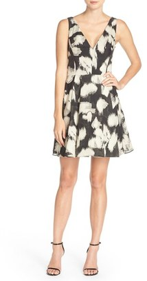 Women's Vera Wang Jacquard Fit & Flare Dress $248 thestylecure.com