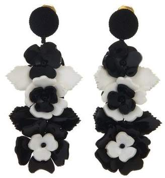 Oscar de la Renta Climbing Flower Earrings
