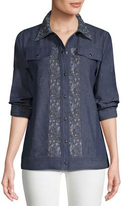 Anna Sui Birds & Roses Jacquard Jacket