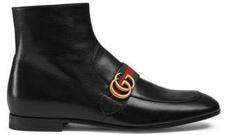 Gucci Leather boot with Double G