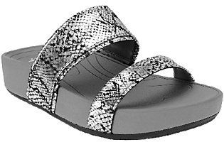 BareTraps Double-strap Slide Sandals - Gemini $19.09 thestylecure.com