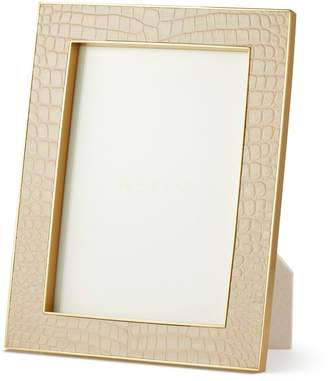 "AERIN Classic Croc Leather Photo Frame (5""x 7"")"