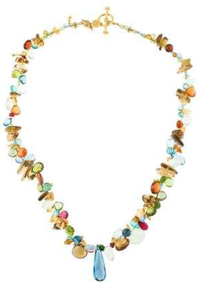 Laura Gibson 22K Multistone Necklace