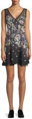Free People Women's Longwood Printed Mini Dress