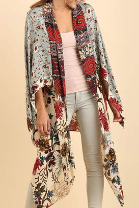Umgee USA Multicolor Long-Body Kimono