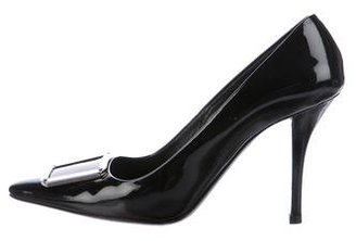 Prada Patent Leather Pointed-Toe Pumps