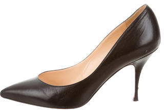 Christian Louboutin Christian Louboutin Leather Pointed-Toe Pumps