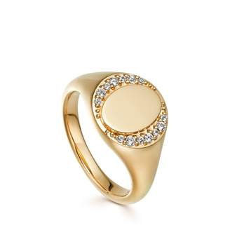 Astley Clarke White Sapphire Biography Signet Ring