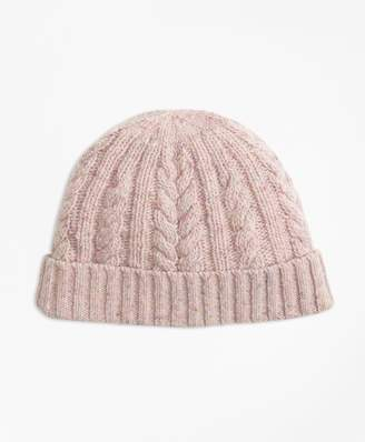 Brooks Brothers Cable-Knit Alpaca-Wool-Blend Hat ef3bc903a1cc