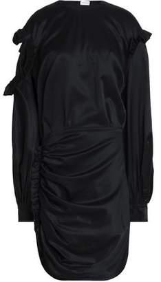Magda Butrym Acapulco Ruffled Cutout Silk-Satin Mini Dress