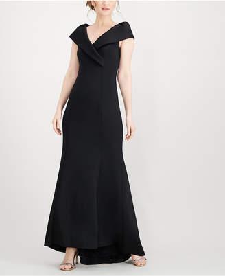 Jessica Howard Surplice Scuba Gown