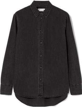 Madewell Washed-denim Shirt - Black
