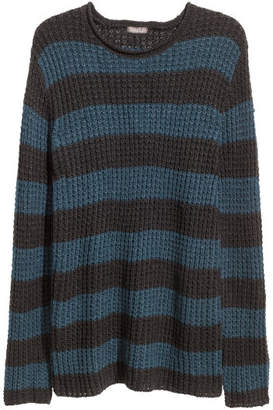 H&M Textured-knit Sweater - Blue