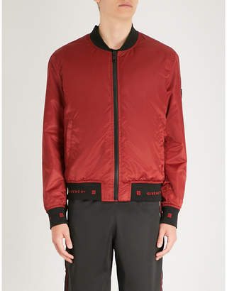 Givenchy Logo trims satin bomber jacket
