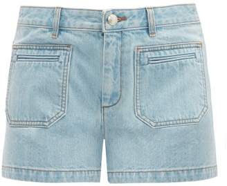 A.P.C. Roma Mid Rise Denim Shorts - Womens - Light Denim