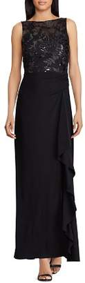 Ralph Lauren Embellished Bodice Gown