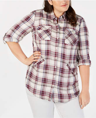Style&Co. Style & Co Plus Size Plaid Woven Tunic