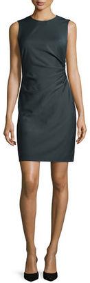 Theory Jorianna Continuous Stretch Sheath Dress, Gray $365 thestylecure.com