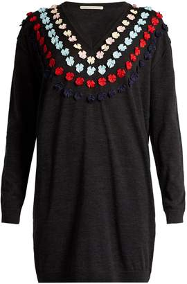 Marco De Vincenzo Bow-embellished wool sweater