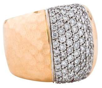 Roberto Coin 18K Diamond Martellato Ring