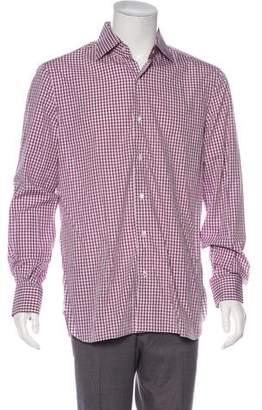 Isaia Gingham Dress Shirt w/ Tags