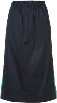 Tibi side stripe a-line skirt