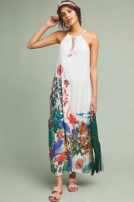 Anthropologie Flamingo Maxi Dress