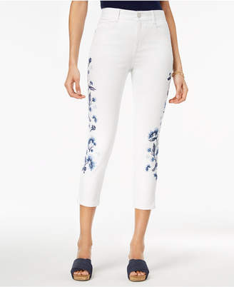 Style&Co. Style & Co Petite Embroidered Slim-Leg Ankle Jeans, Created for Macy's