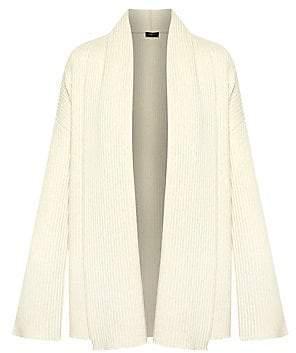 Theory Women's Oversized Rib-Knit Cashmere Cardigan