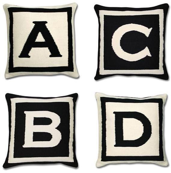 Jonathan Adler - letter pillows by jonathan adler