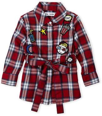 DL1961 Toddler Girls) Stella Plaid Belted Shirtdress