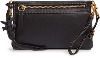 Frye Carson Leather Wristlet/Clutch