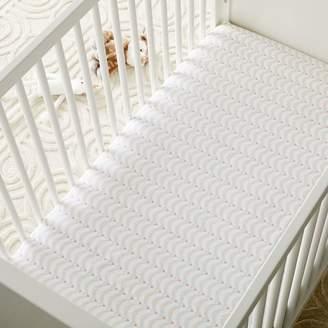 west elm Organic Deco Jewels Crib Fitted Sheet - Blush Multi