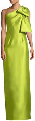 Sachin + Babi Bonnie Asymmetric Bow-Shoulder Gown