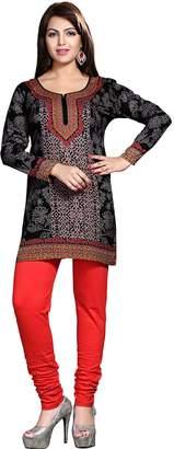 Off-White Maple Clothing Indian Tunics Kurti Top Blouse Womens India Apparel (, XXL)