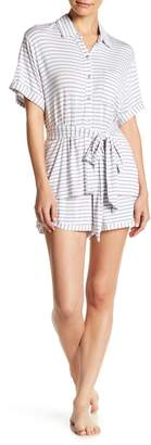Shimera Collared Shirt & Shorts PJ Set